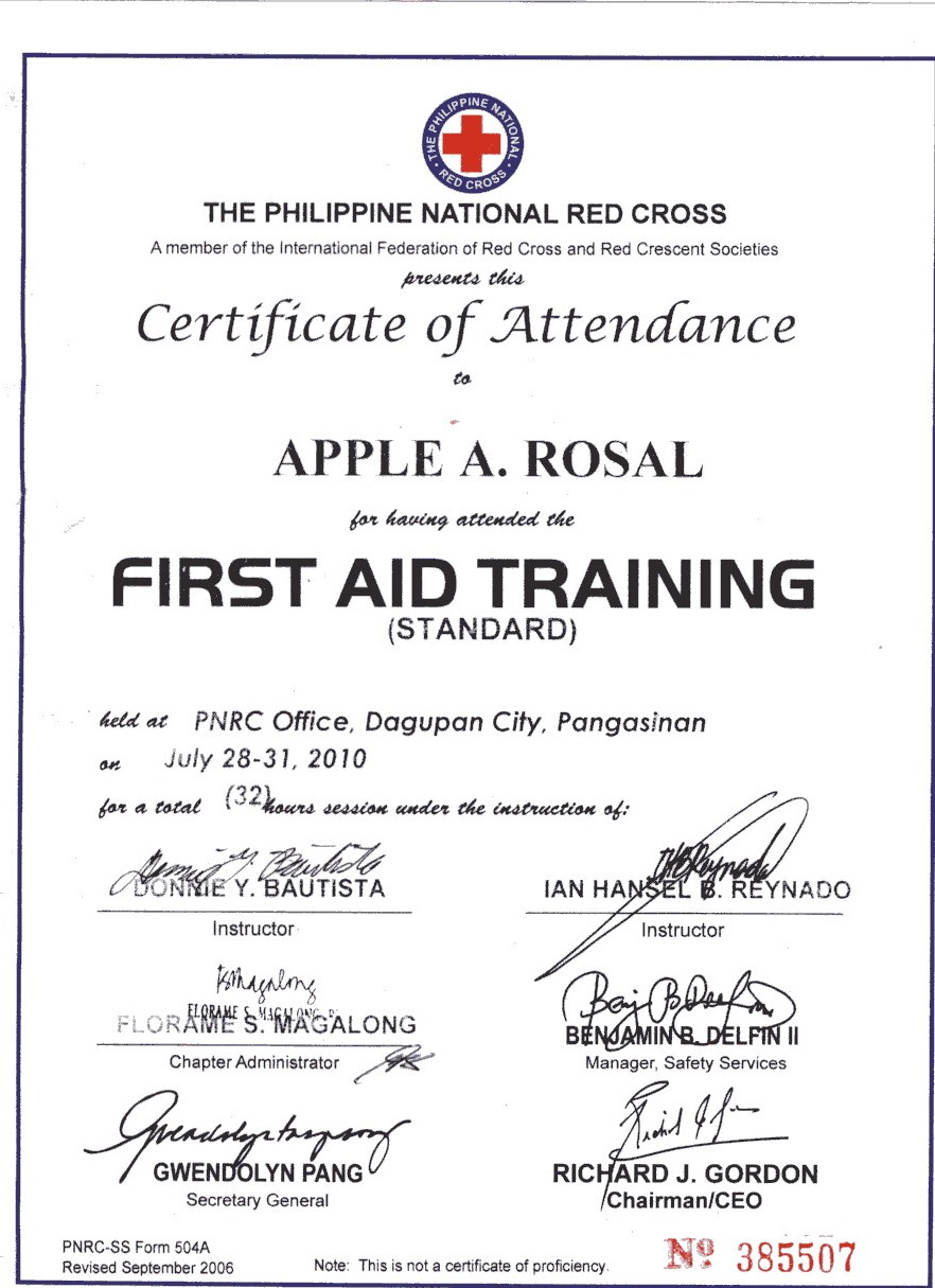 how to download my red cross certificate