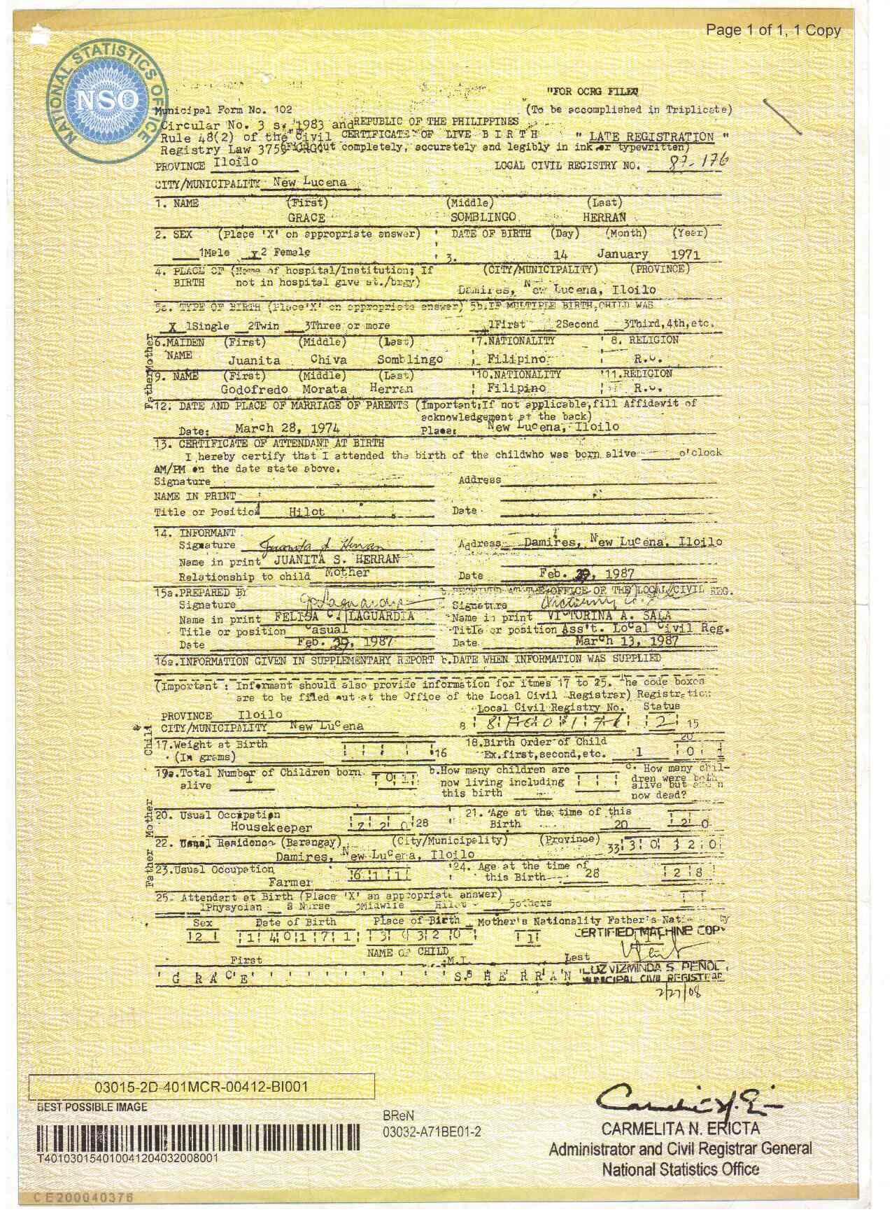 Filipino birth certificate sample choice image certificate sample form philippines images certificate birth 55477356557662birthcertificateg yadclub choice image yadclub Image collections